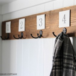 Diy Fence Picket Coat Rack