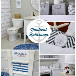 Nautical Bathroom Luandry Room Makeover - Before and After
