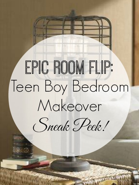 Teen Boy Bedroom Makever - Sneak Peek and Update