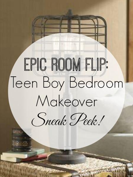 Teen Boy Bedroom Makever - Sneak Peek and Update