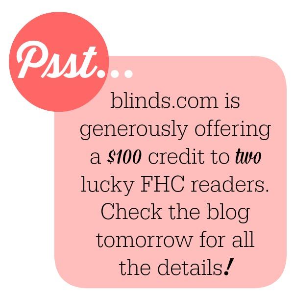 blinds.com giveaway tomorrow