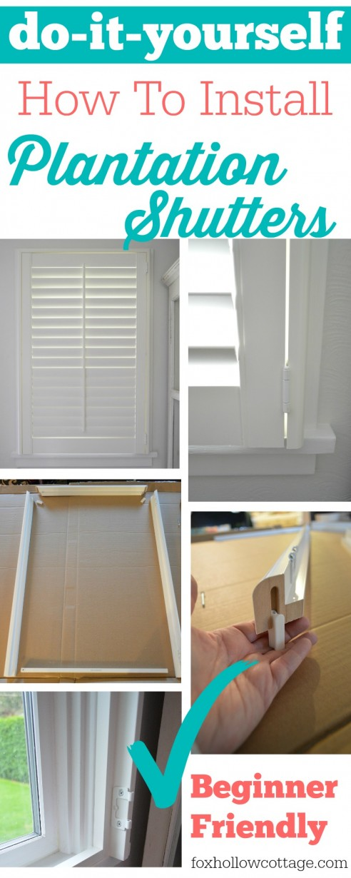 do it yourself - how to install plantation shutters