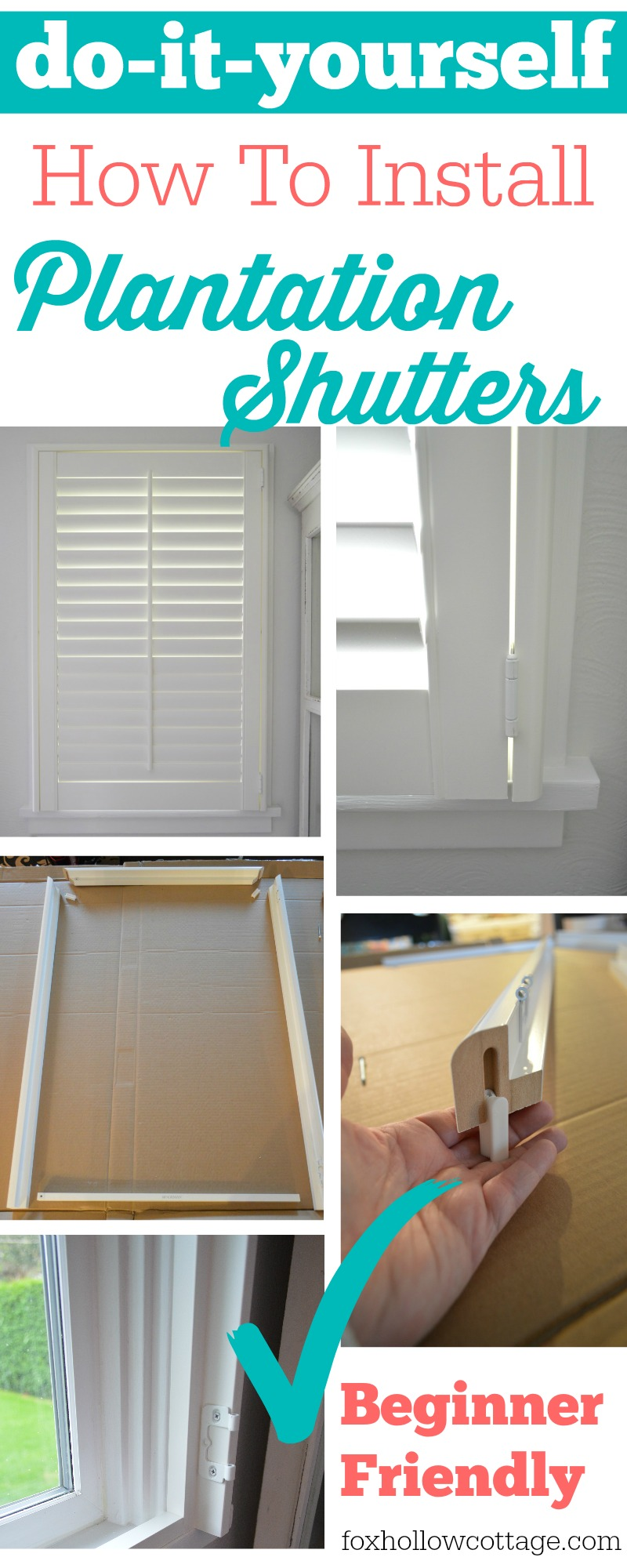 Easy diy plantation shutter installation fox hollow cottage do it yourself how to install plantation shutters solutioingenieria