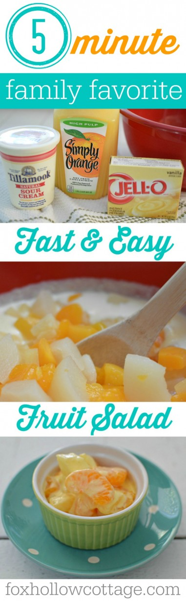 5-minute Fruit Salad Recipe. This on is a real family and crowd pleaser!!