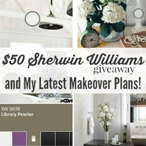 50 Dollar Sherwin Williams giveaway and room makeover plans