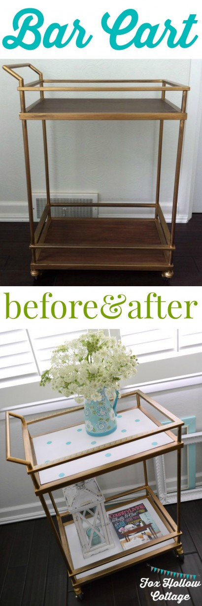 Bar Cart Before and After Target Threshold Makeover