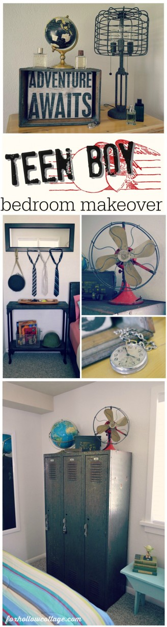 Eclectic Teen Boys Bedroom Makeover
