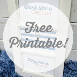 Free Printables For DIY Nautical Art Work