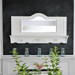 A Simple Spring Mantel – Vintage Cottage Style