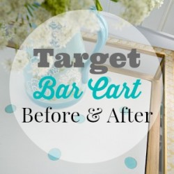 Target Bar Cart - Before and After Makeover