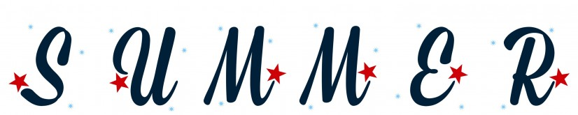 7. Free Printable Summer Red White Blue Letters for Banner Bunting