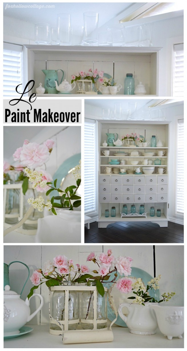 Apothecary Cabinet Paint Makeover
