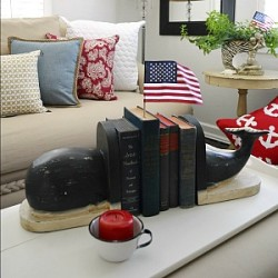 Coastal Cottage - Nautical Summer Home - Patriotic Home Decorating 300