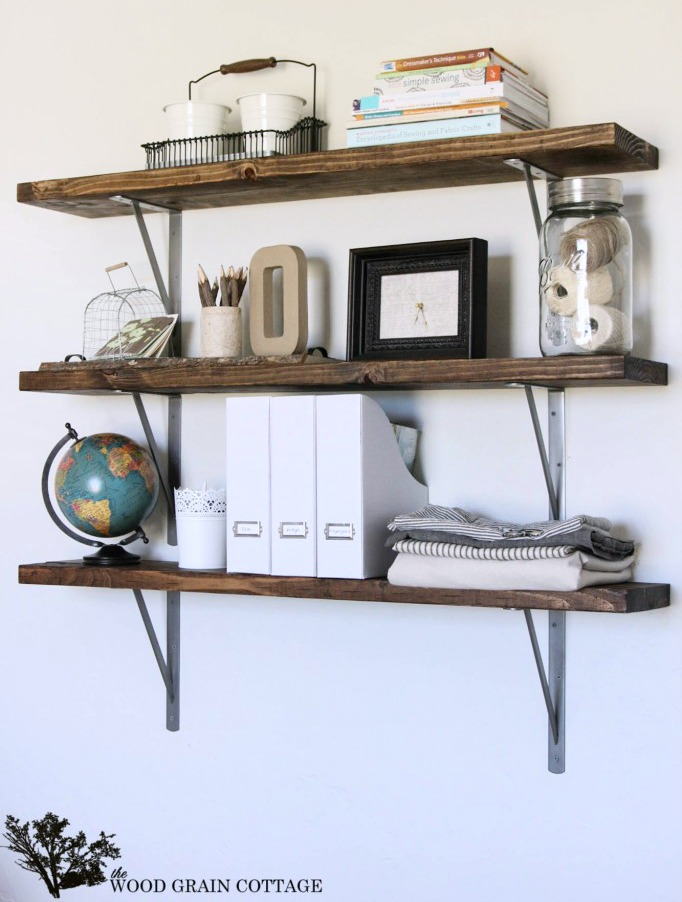 DIY Office Shelves By The Wood Grain Cottage