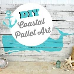 DIY Whale Silhouette Coastal Pallet Art