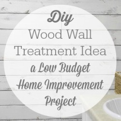 Diy Wood Wall Treatment Idea a Low Budget Home Improvement Project