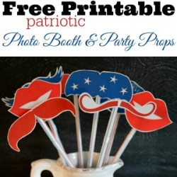 Patriotic Lip and Mustache Printables: Free Photo Props