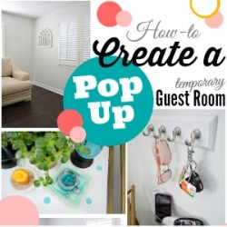 Pop Up Temorary Guest Room DIY How To 300