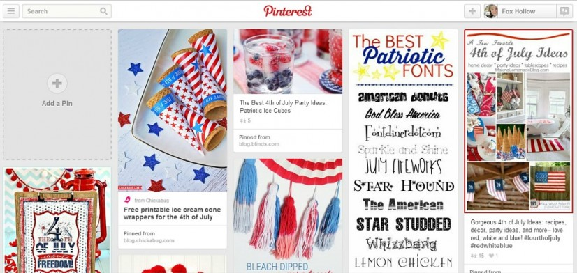 Red White Blue 4th of July Pinterest Board Ideas