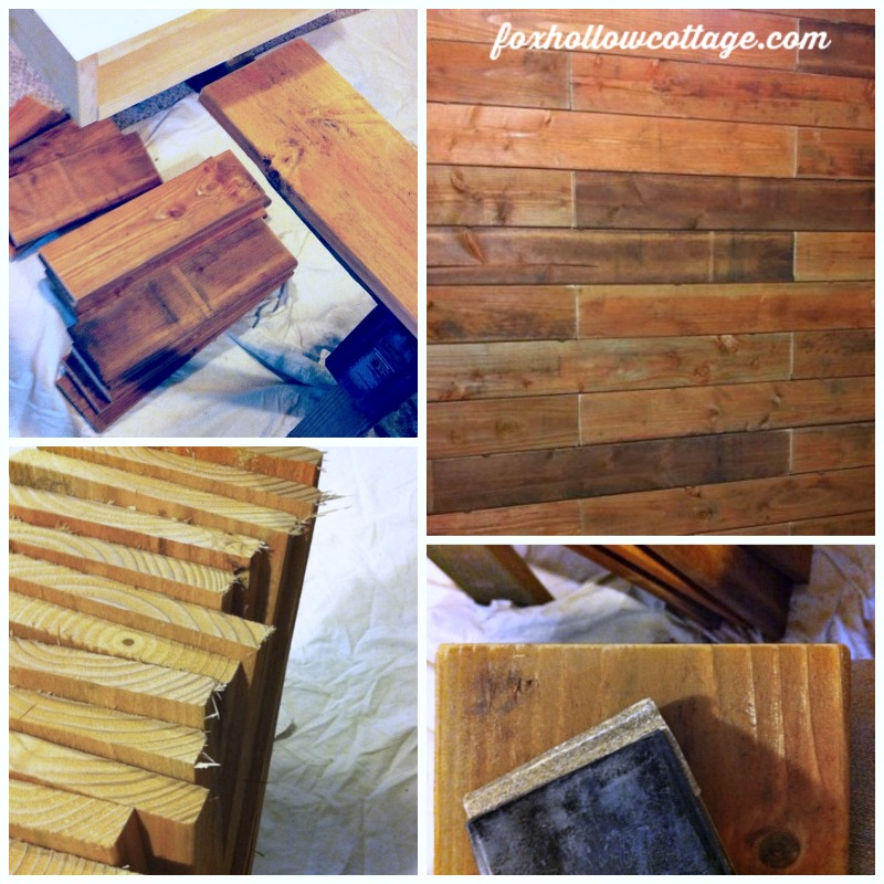 Rustic Wood Fence Board Plank Wall - DIY Tutorial