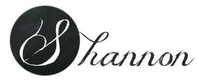 Shannon chalkboard signature B&W