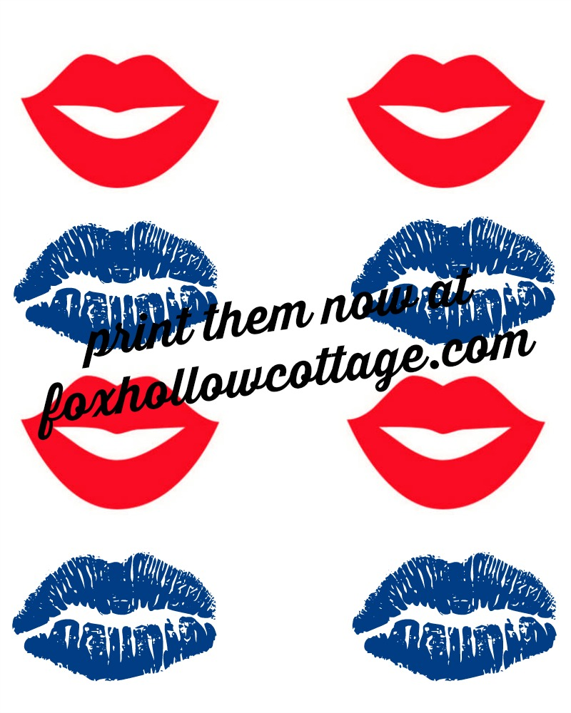 red and blue patriotic lips photo booth prointables foxhollowcottage.com