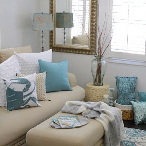 Coastal Cottage Summer Living Room