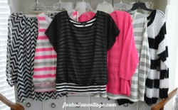 Black White Pink JC Penny ANA Womens Clothing