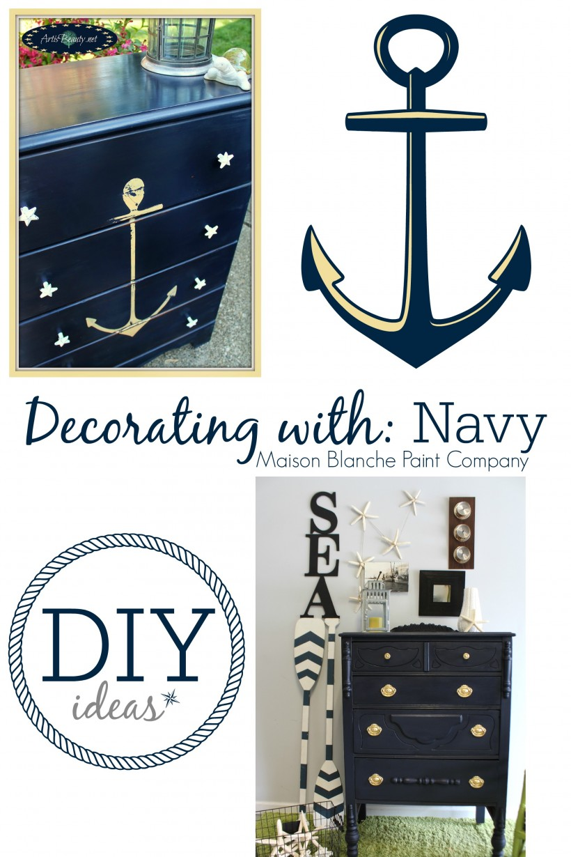 Decorating With NAVY - DIY ideas - Maison Blanche Paint Company