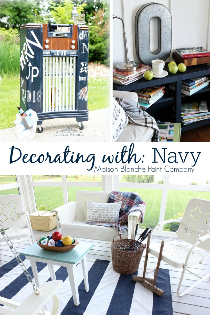 Decorating with Navy | #paintedfurniture Maison Blanche Paint Company