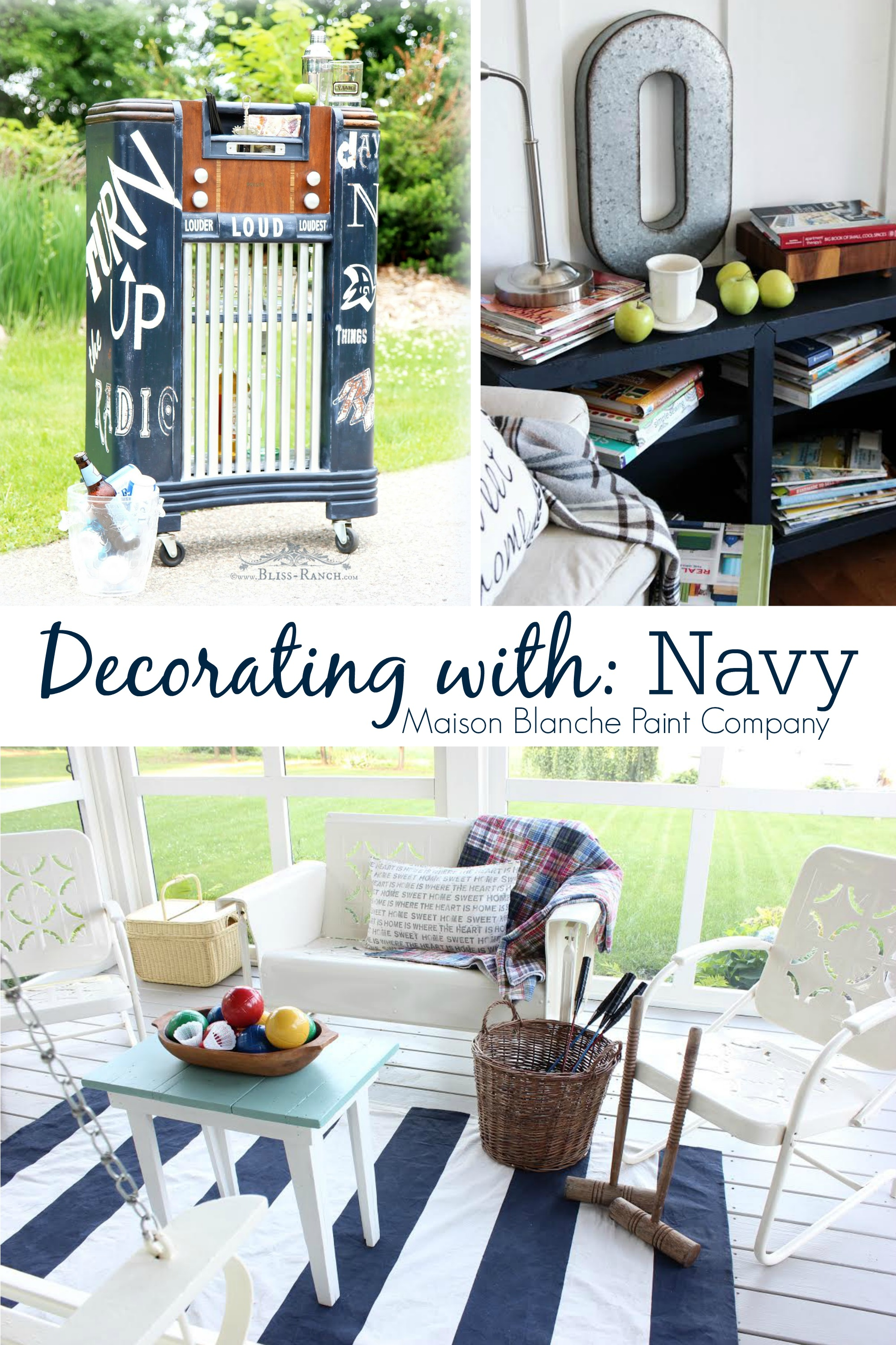 Paint Makeover Decorating Ideas With Navy - Fox Hollow Cottage