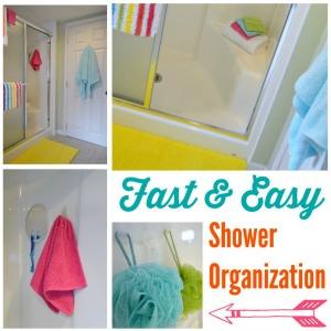 Fast Easy Shower Organization #DamageFreeDIY #ad 300