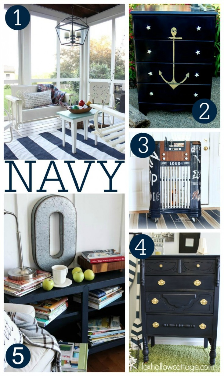 NAVY Decorating Ideas - Maison Blanche Paint Company