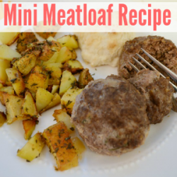 mini meatloaf herb roasted potatoes foxhollowcottage 300