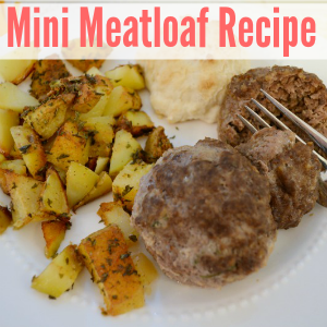Mini Meatloaf with Herb Roasted Potatoes Recipe