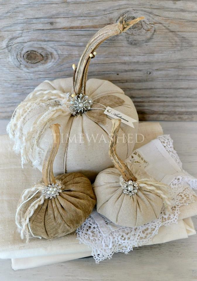 Timewashed on Etsy for the cutest fabric pumpkins!