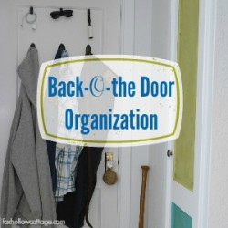 Small Space Door Organizing for Back To School