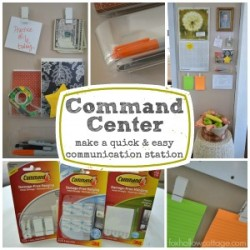 Quick and Easy Organizing - command center communication station #damagefreediy #ad