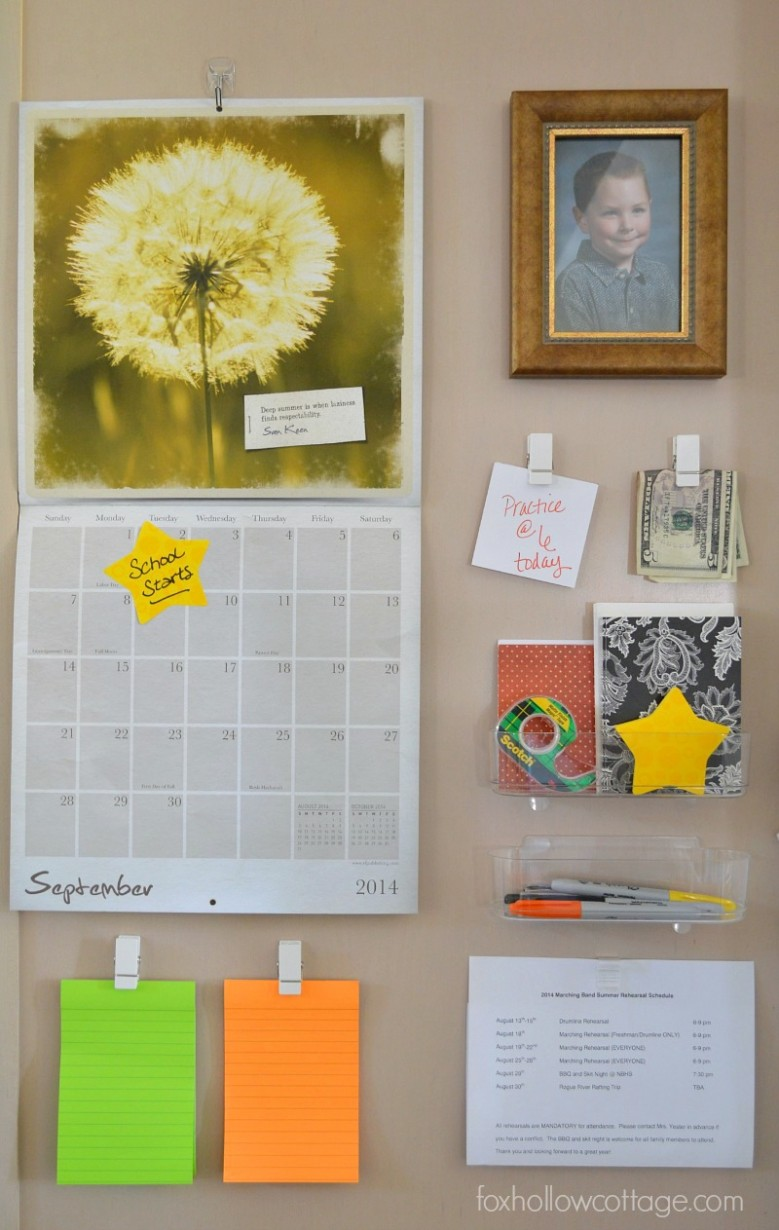 Organized, Back-To-School Command Center / Communication Station #damagefreediy #ad