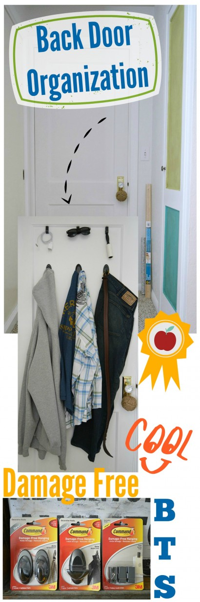 Back of the door - Teen bedroom organization - BTS - Back to school