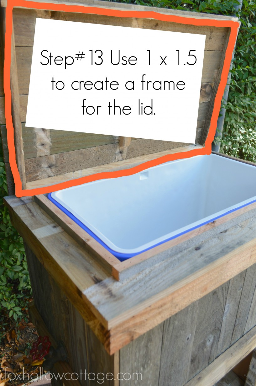 DIY Wood Deck Cooler - The Lid #thehomedepot #3MPartner #ad