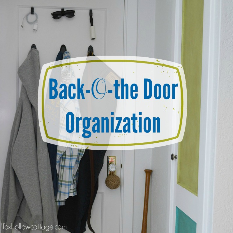 Easy, (no nails!) Back Door Room Organization - #DamageFreeDIY #ad