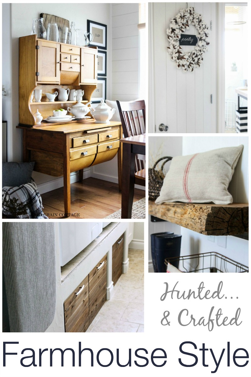 Farmhouse Style - Vintage Hunted Crafted Home Decorating - The Wood Grain Cottage at Fox Hollow Cottage
