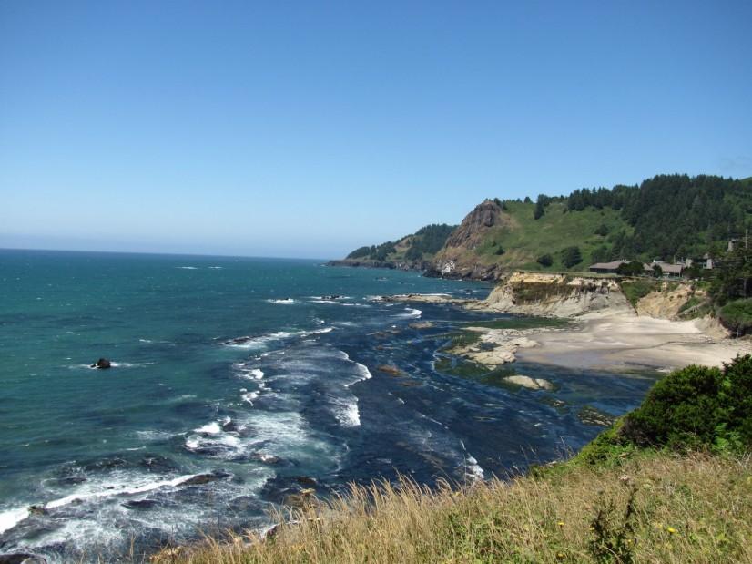Oregon Coast Pacific Ocean Sunshine Sunny Day
