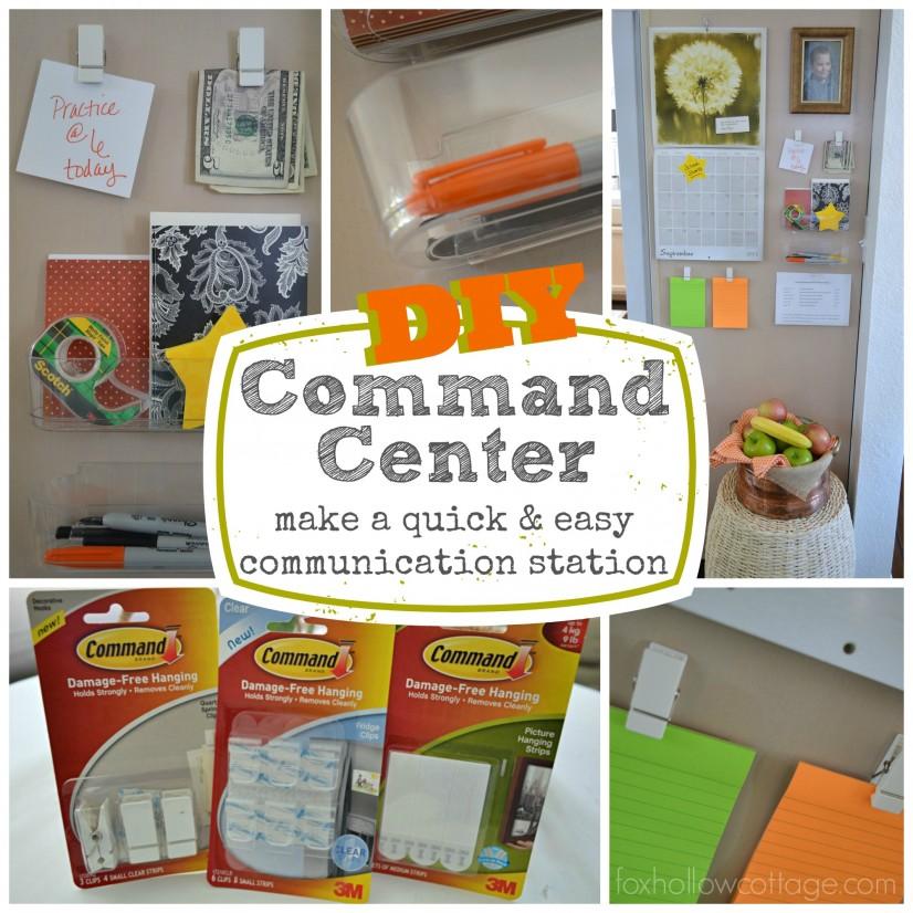 Quick Easy Organizing - command center communication station #damagefreediy #ad