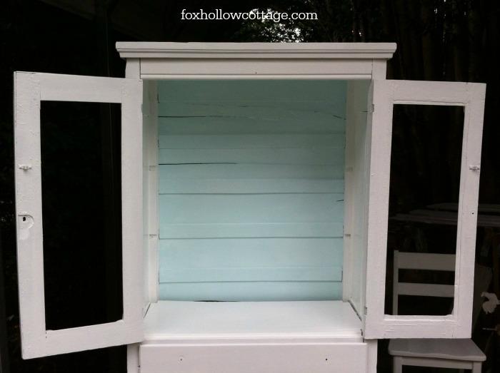 Vintage farm cabinet - during