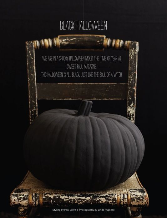 Black Matte Pumpkin Sweet Paul Magazine