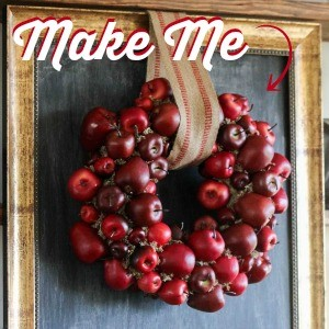 How To Make an Autumn Apple Wreath for Fall