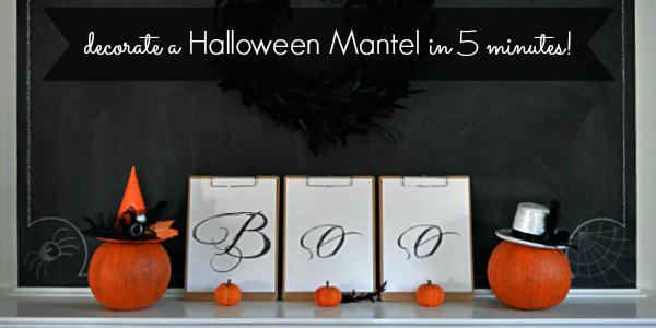 Decorate a Halloween Mantel in 5 Minutes