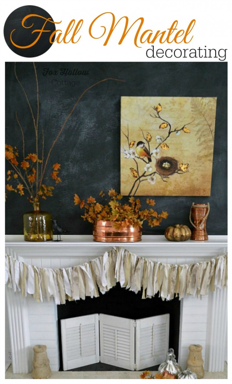 Fall Mantel Decorating, Fox Hollow Cottage | #Fall #damagefreediy #ad #manteldecor